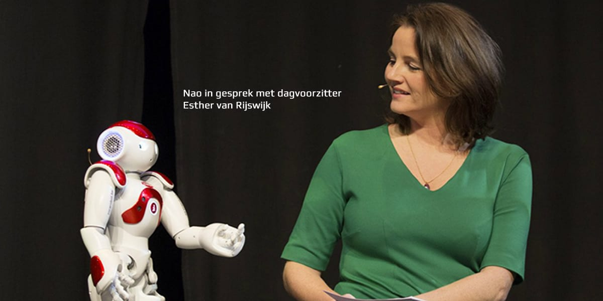 Innovatie event met robot