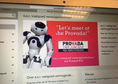 NAO meet en greet Provada, Robotverhuur