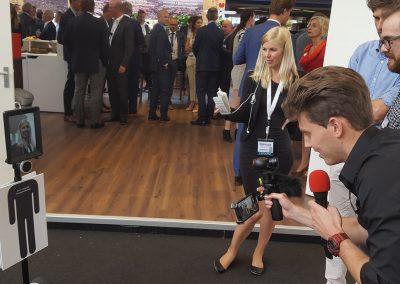 Telepresence robot op een event