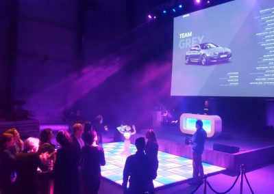 Pepper robot dancing on event
