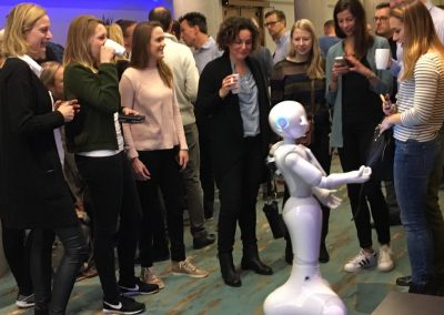 Meet en greet met Pepper robot