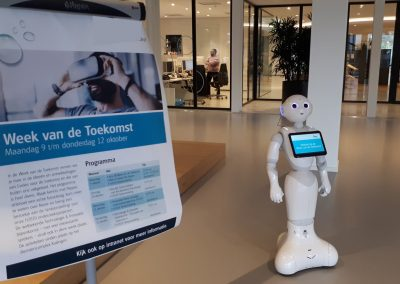 Robot op een innovatie event