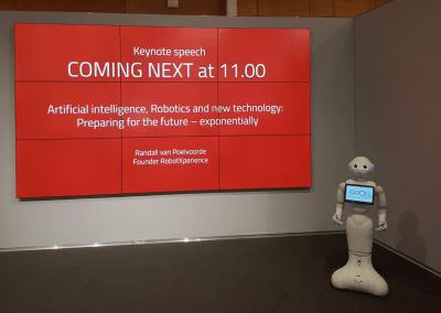 Keynote, artifical intelligence and robotics, Randall van Poelvoorde