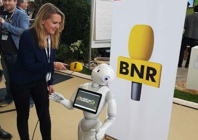 Pepper robot in het nieuws