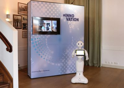 Pepper robot, innovatie pop-up