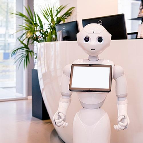 Receptie robot huren