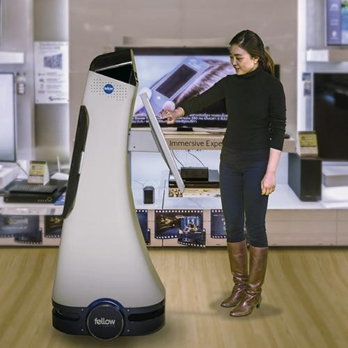 Robot met receptie taken