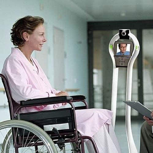 Robots in de zorg huren, telepresence