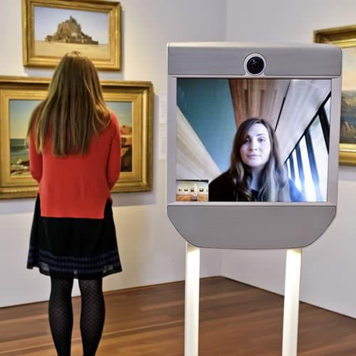 Telepresence robot als gids